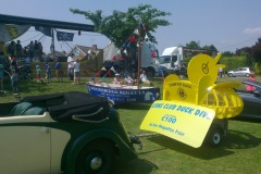 Dumper duck arrives at the Regatta